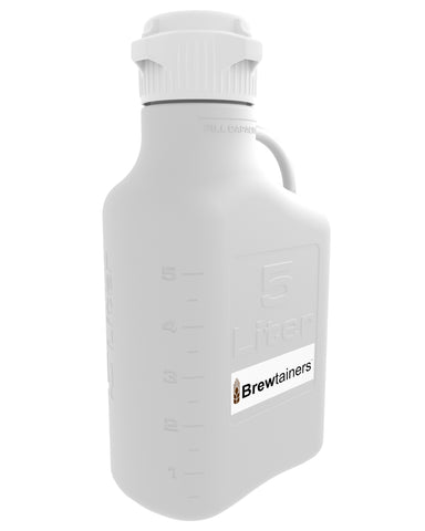 Brewtainers Polypropylene 5L (1.82 Gal Max) Homebrew Yeast Container with leakproof Tight Sealed 83mm Cap