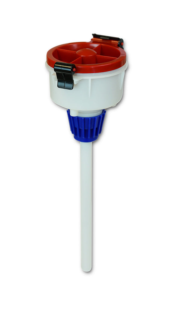 "EZwaste® 4"" Safety Funnel, HDPE, VersaCap 38-430"