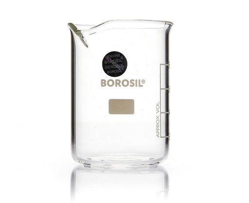 Borosil®  Low-Form Griffin Glass Beakers with Spout - 3000mL - CS/4