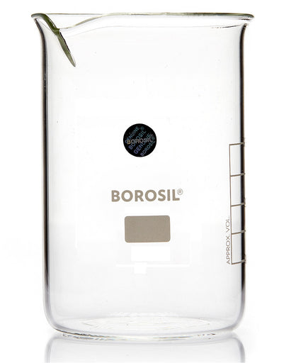 Borosil® Tall-Form Glass Beakers with Spouts - 150mL - CS/40