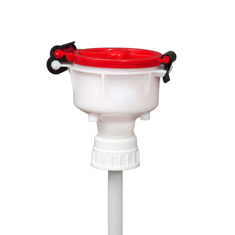 "EZwaste® 4"" Safety Funnel, HDPE, VersaCap 53B"