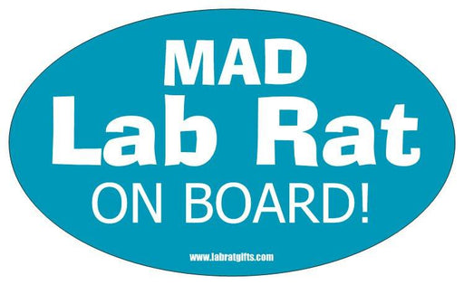 """Mad Lab Rat on Board"" - Oval Sticker Default Title - LabRatGifts"