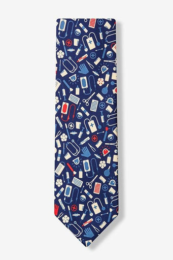 Medical Supplies Tie Blue - LabRatGifts - 1