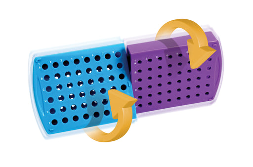 Abdos Twisty Tube Rack, Polypropylene (PP) Blue and Purple, 1/EA