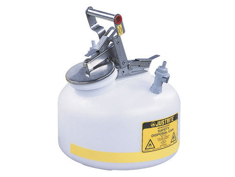 "Quick-Disconnect Disposal Safety Can, polypropylene fittings for 3/8"" tubing, 2 gal., polyethylene"