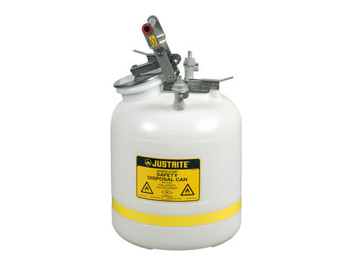 "Quick-Disconnect Disposal Safety Can, polypropylene fittings for 3/8"" tubing, 5 gal., polyethylene"