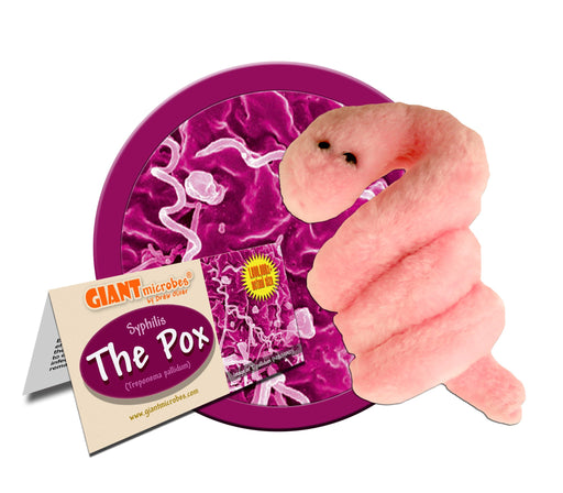 The Pox - Syphilis (Treponema pallidum) - GIANTmicrobes® Plush Toy Default Title - LabRatGifts - 1