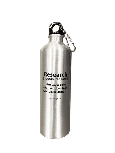 """Research"" - 26oz Water Bottle"