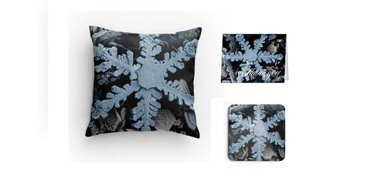 SEM Snowflake Image Pillow Set