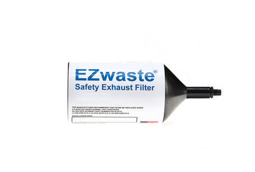 EZwaste® 100 Safety Chemical Exhaust Filter, without Indicator, ¼ -28 Thread, 1/EA
