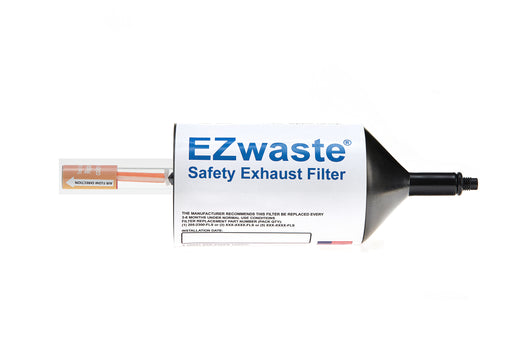 EZwaste® 110 Safety Chemical Exhaust Filter, with Indicator,¼ -28 Thread, 25/CS