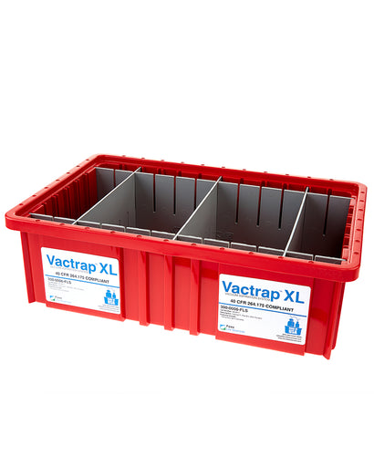 Vactrap™ XL, Red Bin w/ Dividers