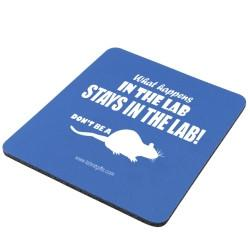 """What Happens in the Lab"" - Mouse Pad  - LabRatGifts"