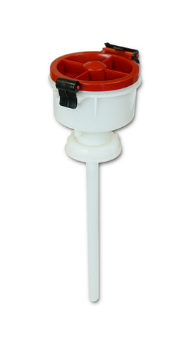 "EZwaste® 4"" Safety Funnel, HDPE, VersaCap S70"