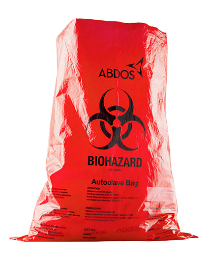 Abdos Biohazard Disposable bags, Polypropylene (PP) (42 X 42 IN) 100/CS