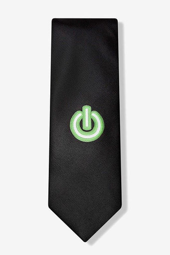Power On Button Tie  - LabRatGifts - 1