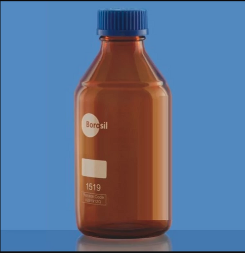 Borosil® Amber Reagent Glass Bottle with GL45 Screw Cap 2/CS - 3L