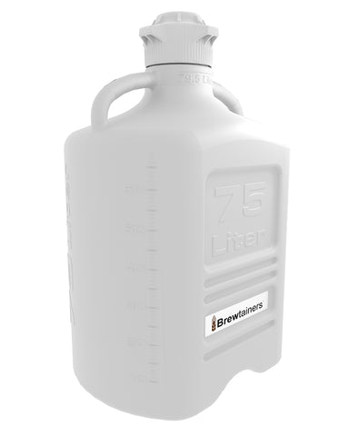 Brewtainers HDPE 75L (21.0 Gal Max) Homebrew Yeast Container with leakproof Tight Sealed 120mm Cap