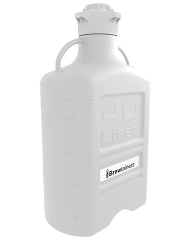 Brewtainers Polypropylene 40L (13.05 Gal Max) Homebrew Yeast Container with leakproof Tight Sealed 120mm Cap