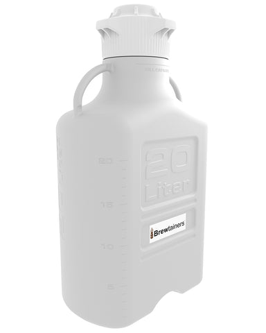 Brewtainers Polypropylene 20L (7 Gal Max) Homebrew Yeast Container with leakproof  Tight Sealed 120mm Cap