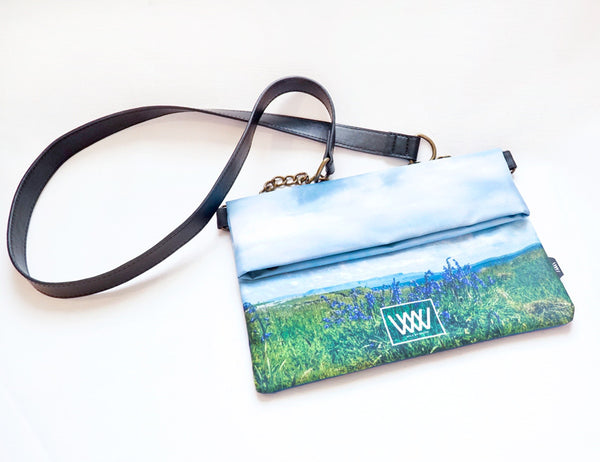 Wild by Water Folded Clutch – Inishmurray Bluebells