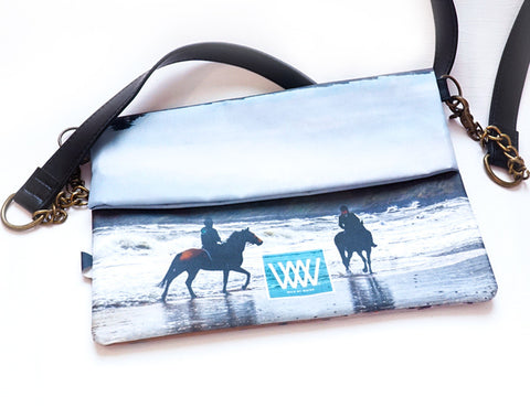 Wild by Water Folded Clutch – Beach Riders