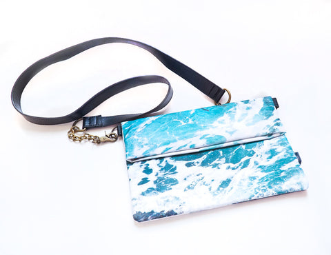 Wild by Water Folded Clutch – Seaweed Foam