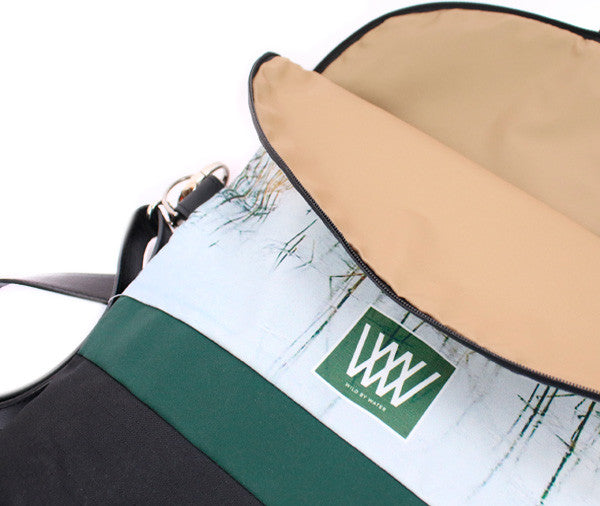 Wild by Water Backpack Iced Reeds