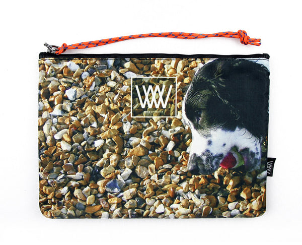 Wild by Water Sporty Clutch – Beach Ball Dog