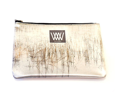 LAST ONE: Wild by Water Fashion Clutch – Ice Reeds