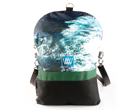 Wild by Water Backpack / Cross-body– Seabird Swirl
