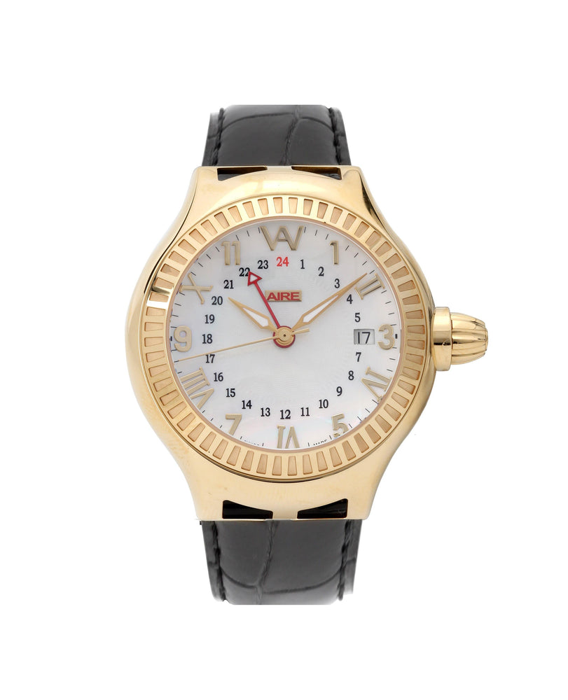 Aire Parlay GMT Automatic Swiss Made Solid 18 Karat Gold Unisex Limited Edition  Watch - - Red Gold®