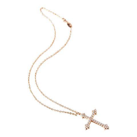 CROSS OF JERICHO DIAMOND NECKLACE