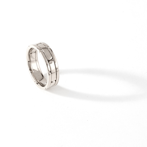 AIRE WEDDING BAND - WHITE GOLD