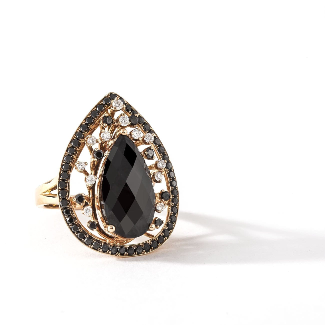 BLACK DIAMOND RING - PEAR MYSTERY - Chris Aire Fine Jewelry & Timepieces