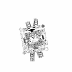 Two  As One - 10.01 Carats  D Flawless Cushion Diamond Engagement Ring