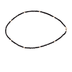 BLACK BEAD AND GOLD NECKLACE - Chris Aire Fine Jewelry & Timepieces