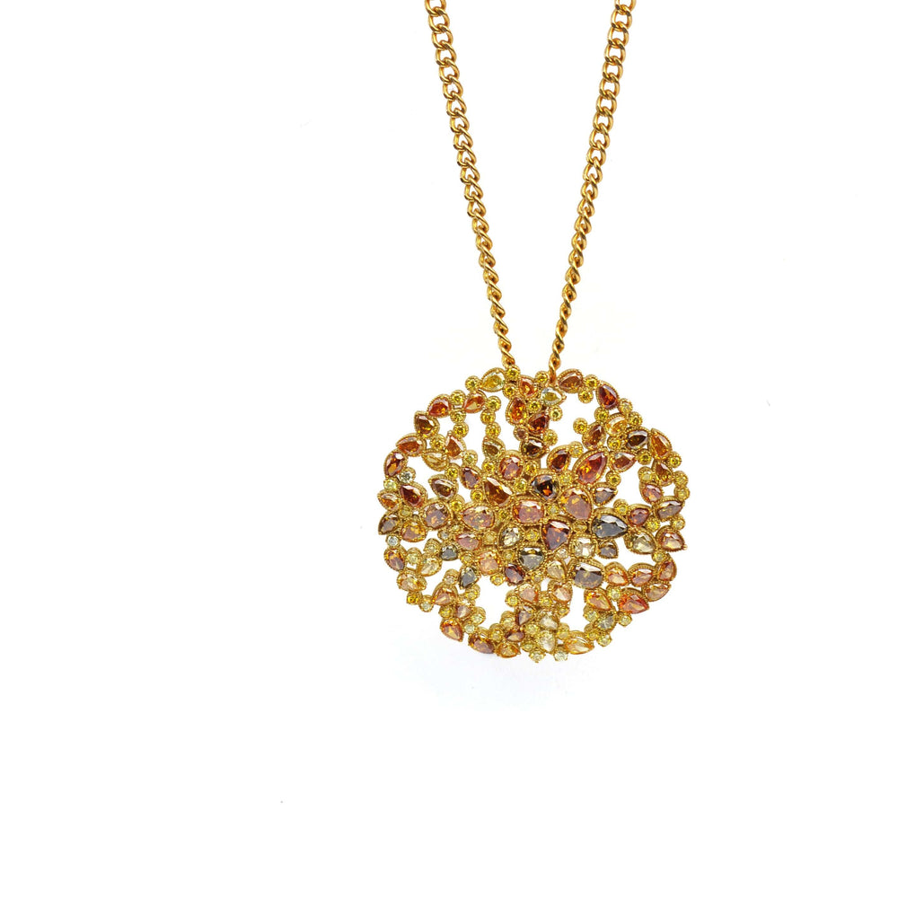13.81 Carats Fancy Diamond Brooch and Necklace - Chris Aire Brooch - Chris Aire Fine Jewelry & Timepieces
