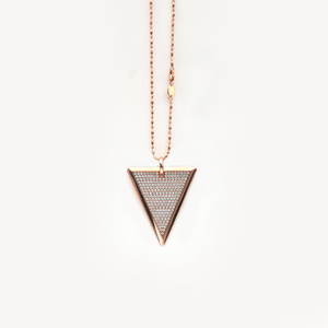 Load image into Gallery viewer, Full Diamond Tri-Tag Necklace