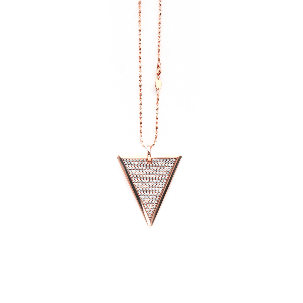 Full Diamond Tri-Tag Necklace