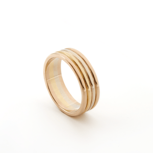 New - Tri Color Gold Wedding Band