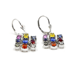 Rainbow Sapphire - 18 Karat White Gold Gemstones Earrings