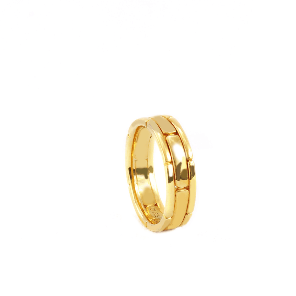 A Good Thing - Solid 18 Karat Amber Hue Gold Wedding Band