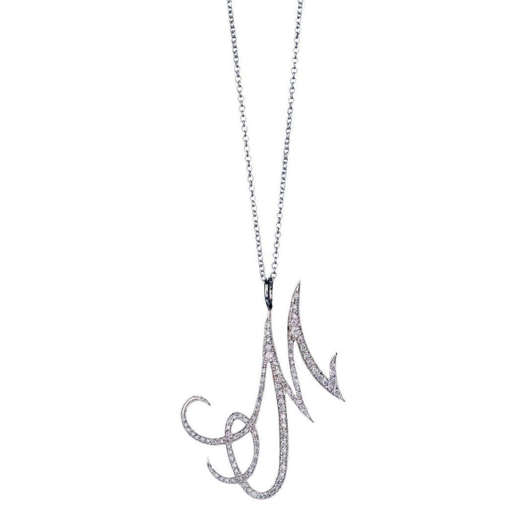 INITIAL DIAMOND NECKLACE -