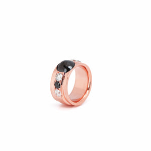 4.00 Carats Black and White Diamond Ring - Chris Aire Fine Jewelry & Timepieces