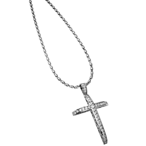 Load image into Gallery viewer, Redemption Cross - 18 Karat White Gold diamond Cross