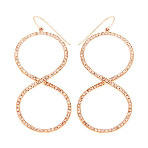 GOLD INFINITY DIAMOND EARRINGS