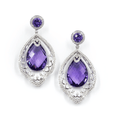 AMETHYST EARRINGS - QUEEN AMINA - Chris Aire Fine Jewelry & Timepieces