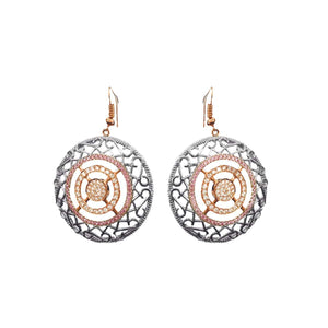 "Load image into Gallery viewer, New -""Basket"" Large Diamond Earrings"