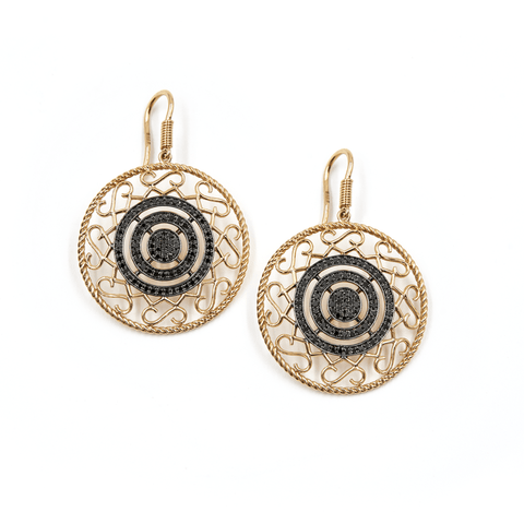 BLACK DIAMOND EARRINGS - CIRCLE OF FAITH